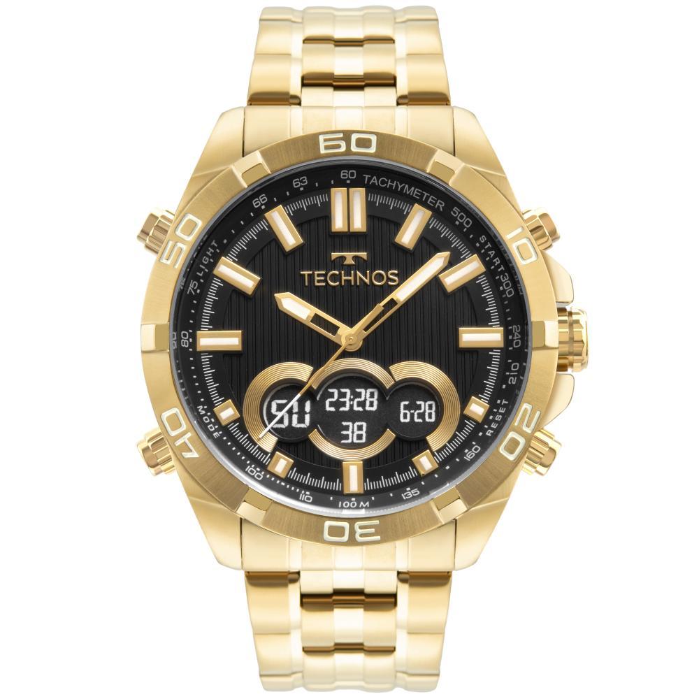 Relógio Masculino Technos Performance Digiana BJK629AA/1P 47mm Aço Dourado