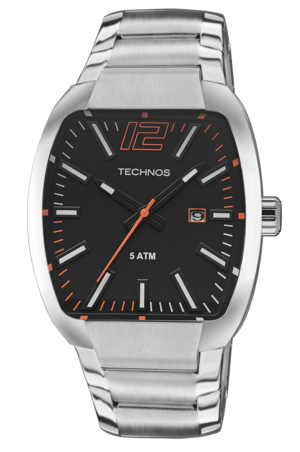 Relógio Masculino Technos Performance Racer 2115KLH/1P 43mm Aço Prata