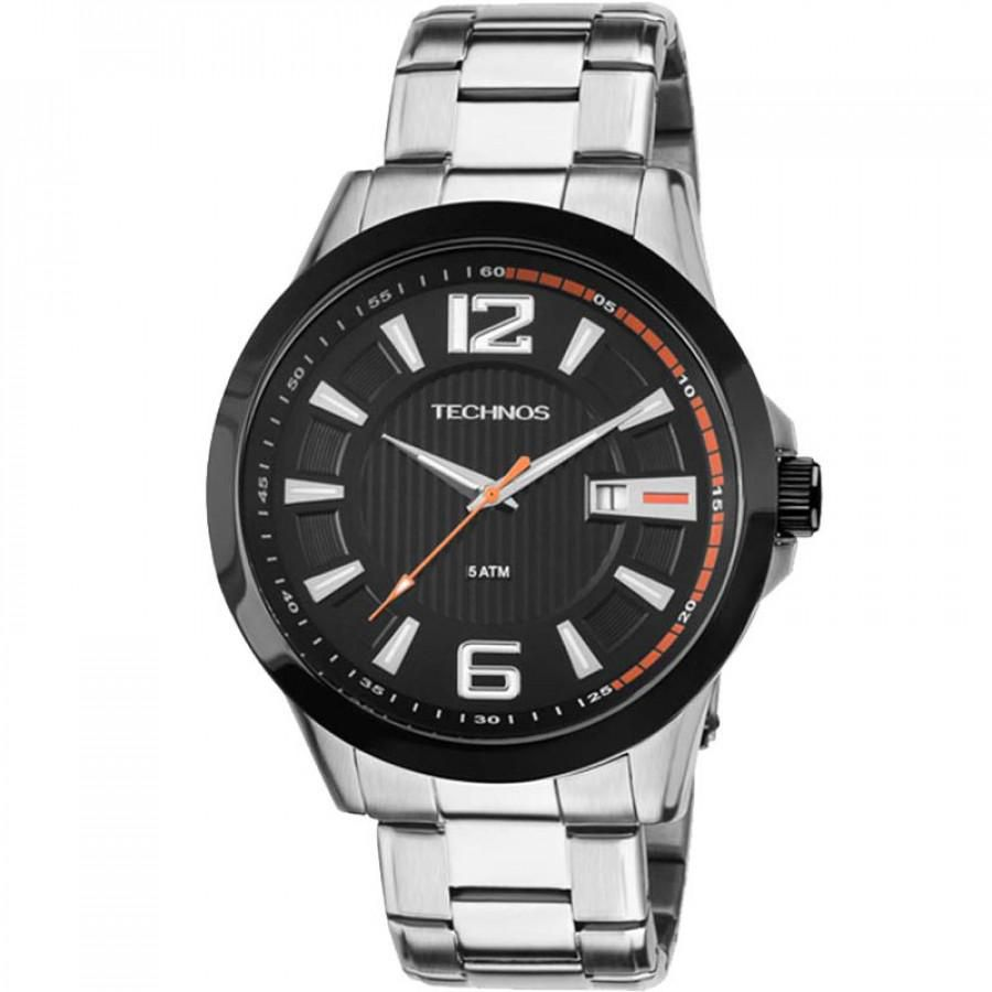 Relógio Masculino Technos Performance Racer 2115KNV/1P 45mm Aço Prata
