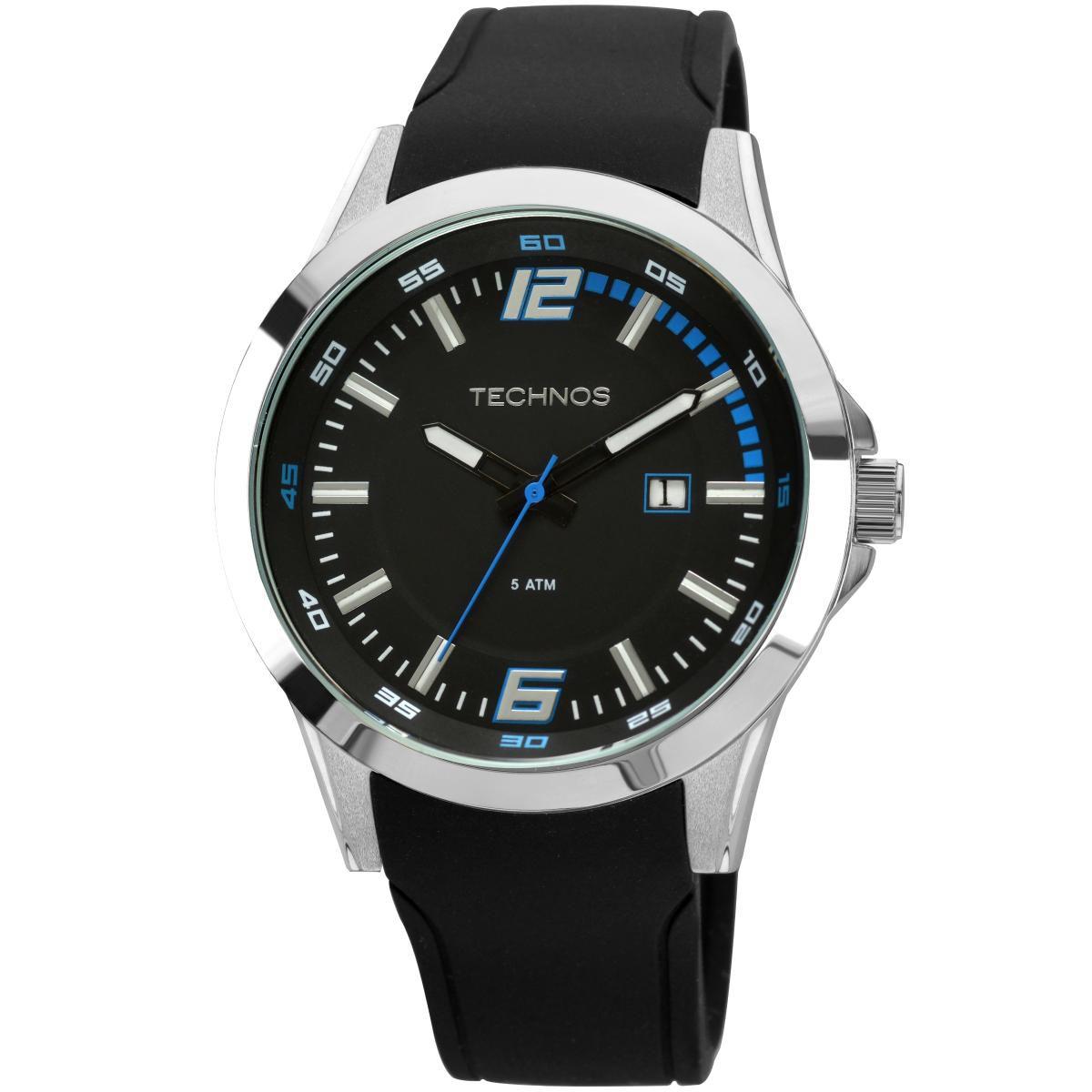 Relógio Masculino Technos Performance Racer 2115KPT/8A 45mm Silicone Preto