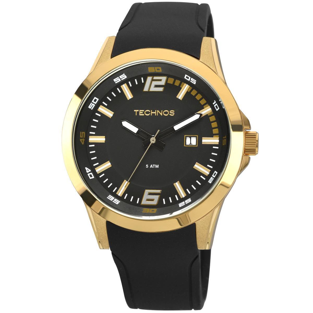 Relógio Masculino Technos Performance Racer 2115KPU/8P 45mm Silicone Preto