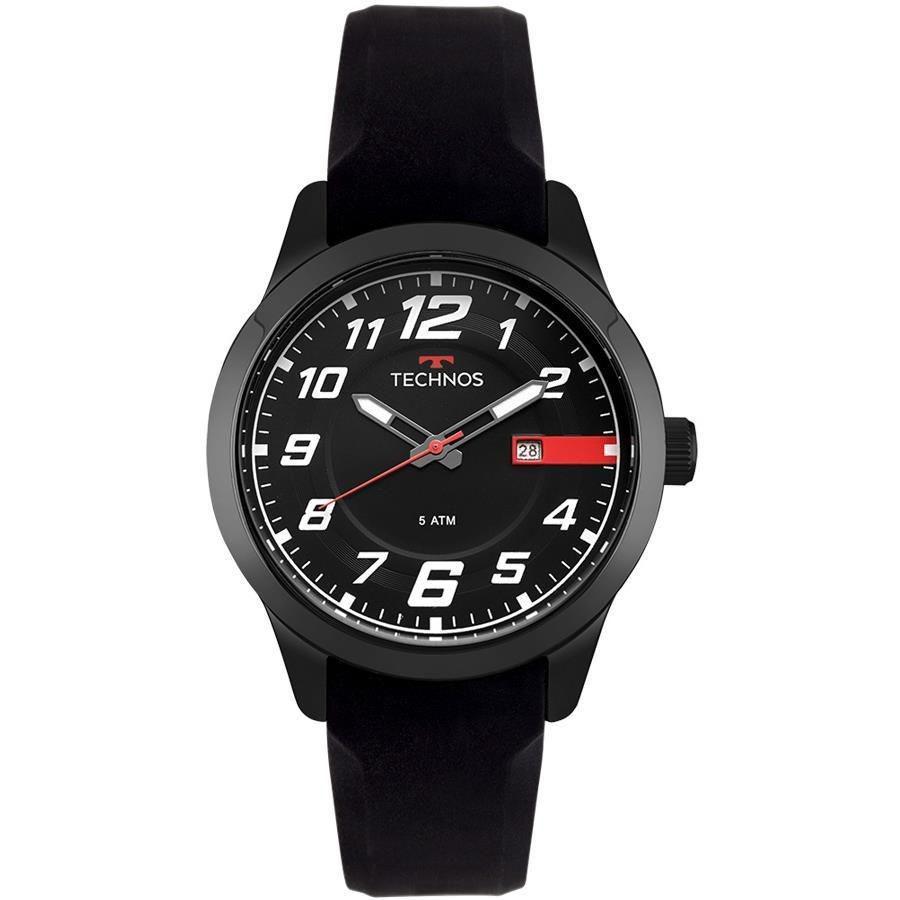 Relógio Masculino Technos Performance Racer 2115MOV/8P 45mm Silicone Preto