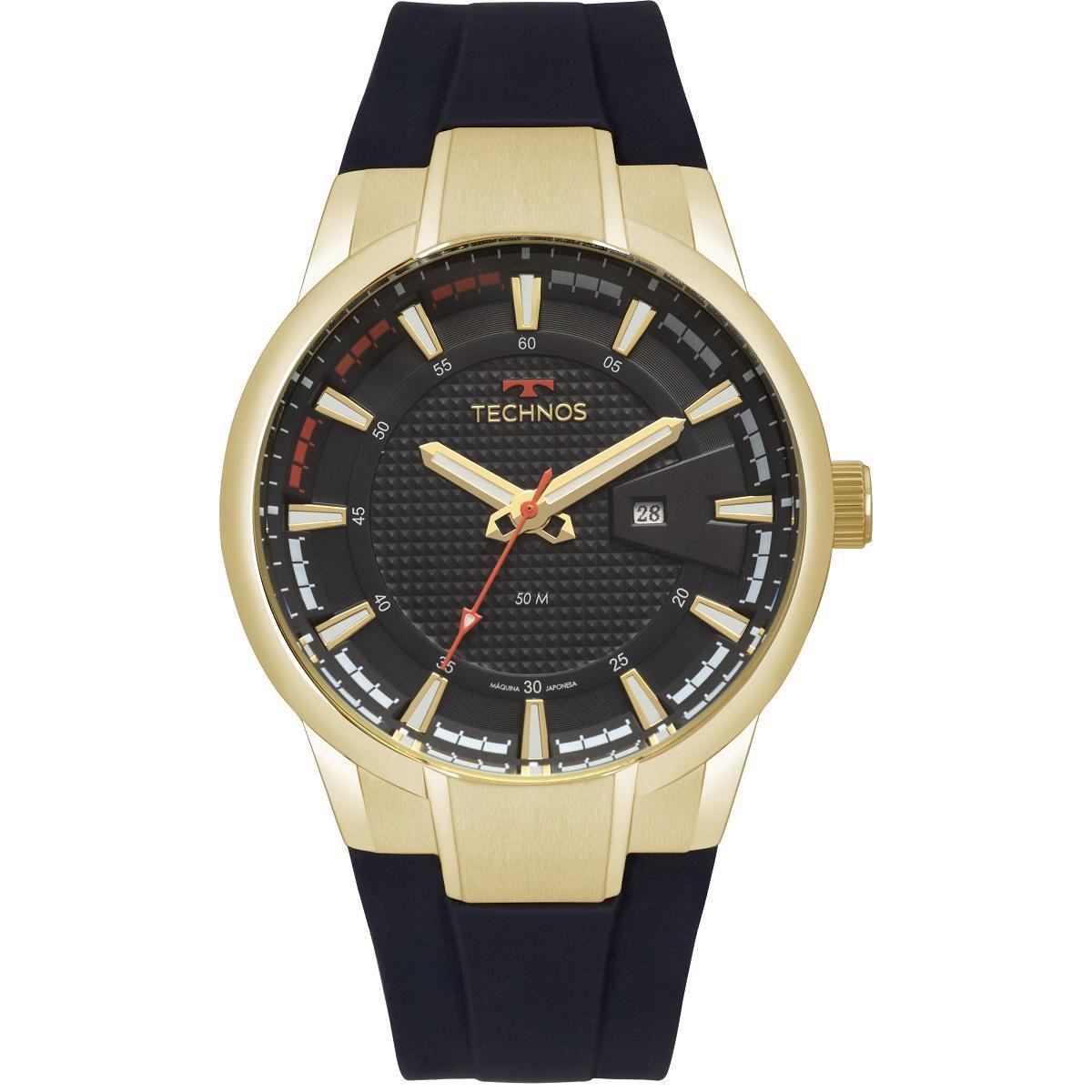Relógio Masculino Technos Performance Racer 2117LAZ/8P 48mm Silicone Preto