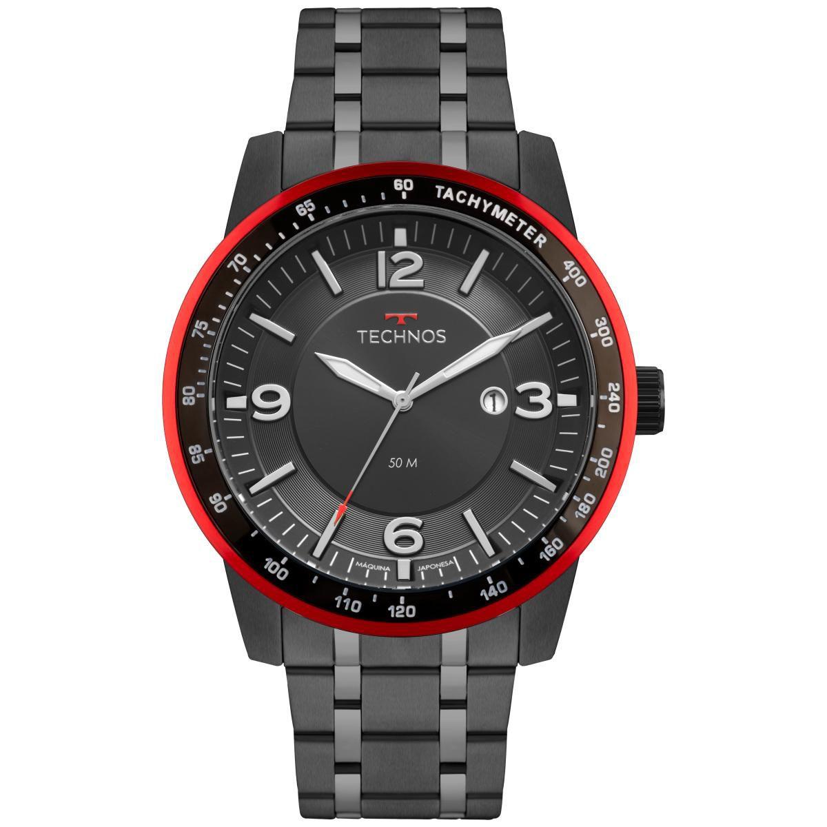 Relógio Masculino Technos Performance Racer 2117LBA/4P 48mm Aço Preto