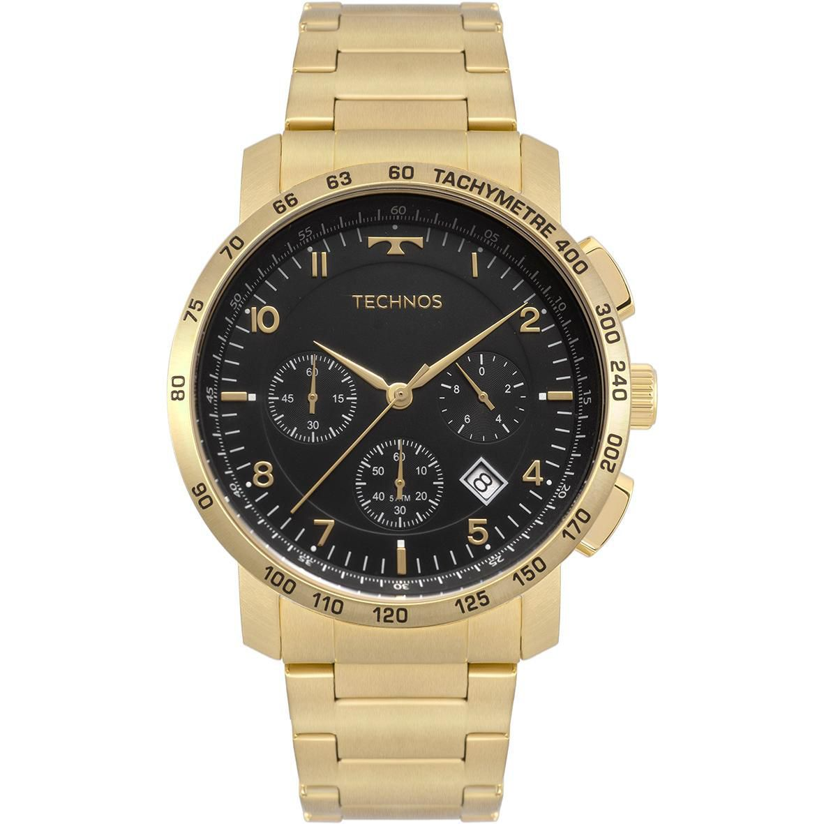 Relógio Masculino Technos Performance Skymaster 6S20AA/4P 46mm Aço Dourado
