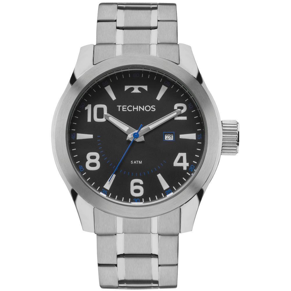 Relógio Masculino Technos Racer 2115MGO/1P 46mm Aço Prata