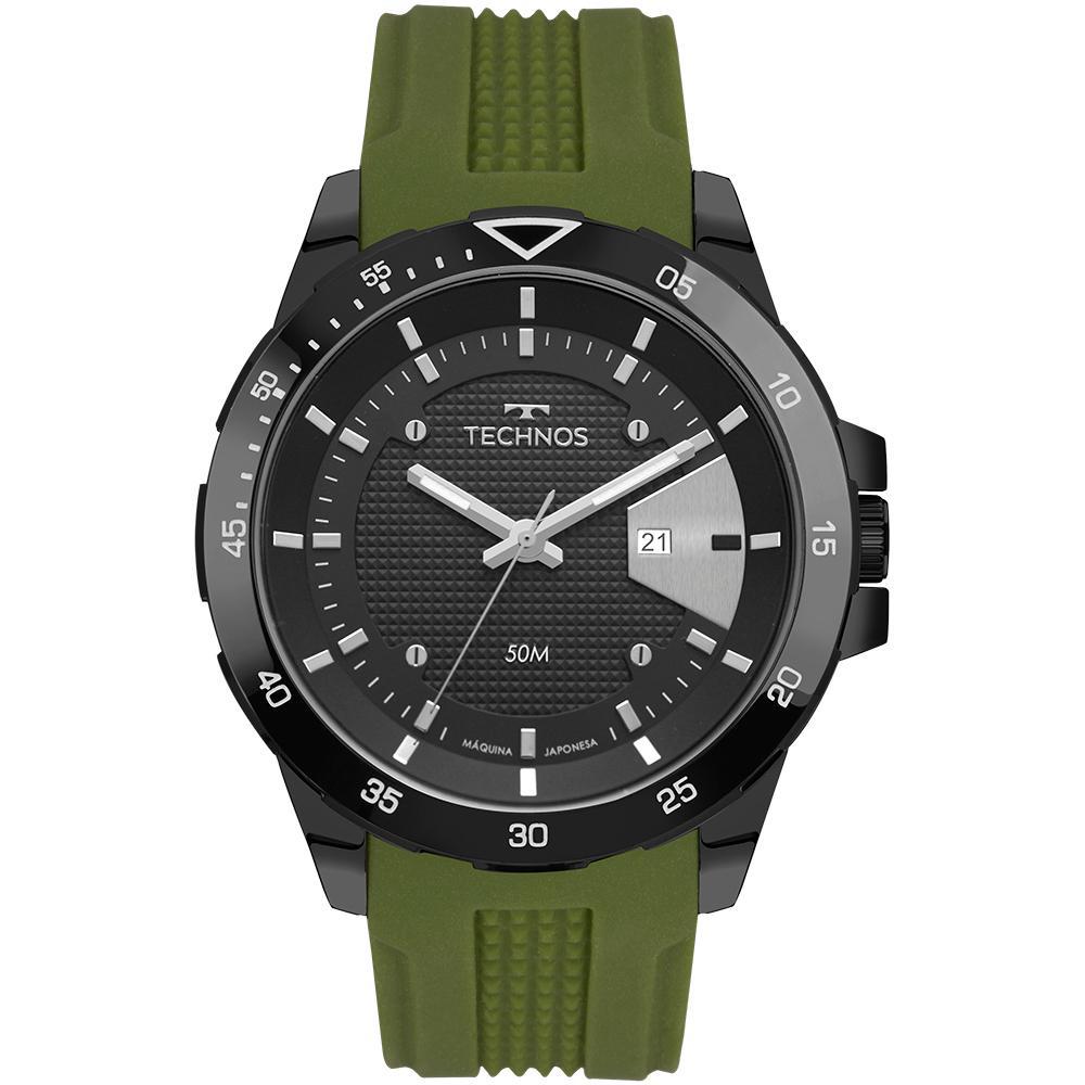 Relógio Masculino Technos Racer 2115MTJ/8P 48mm Silicone Verde