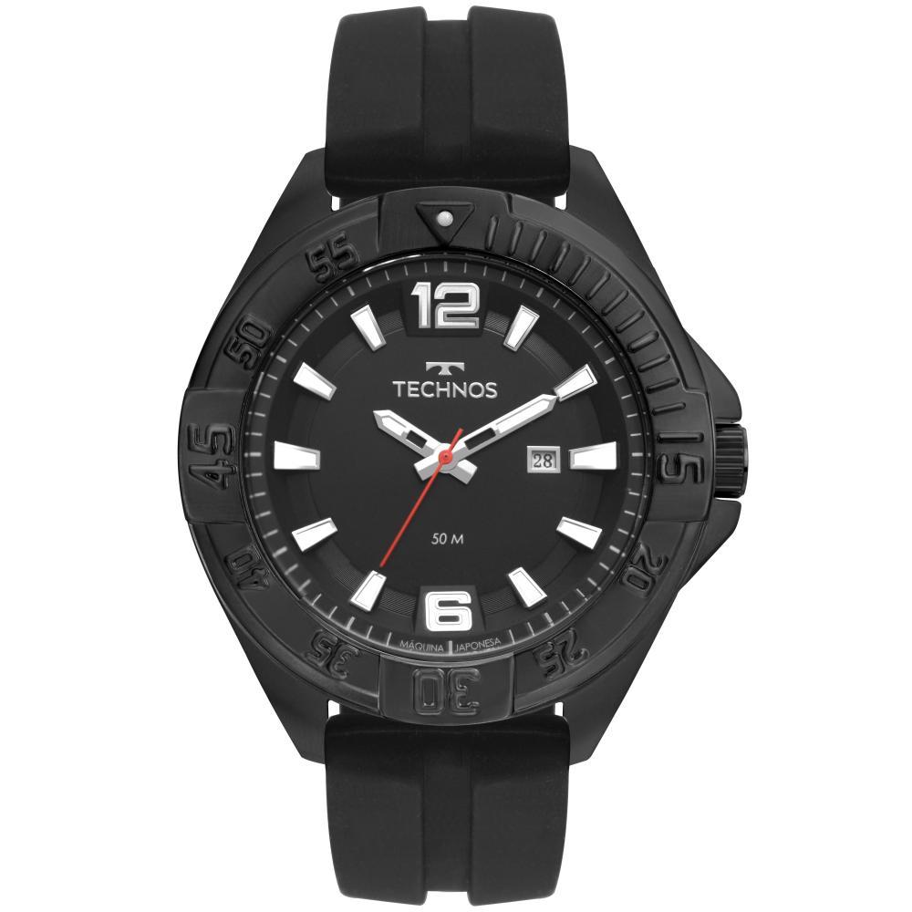 Relógio Masculino Technos Racer 2115MTN/8P 50mm Silicone Preto