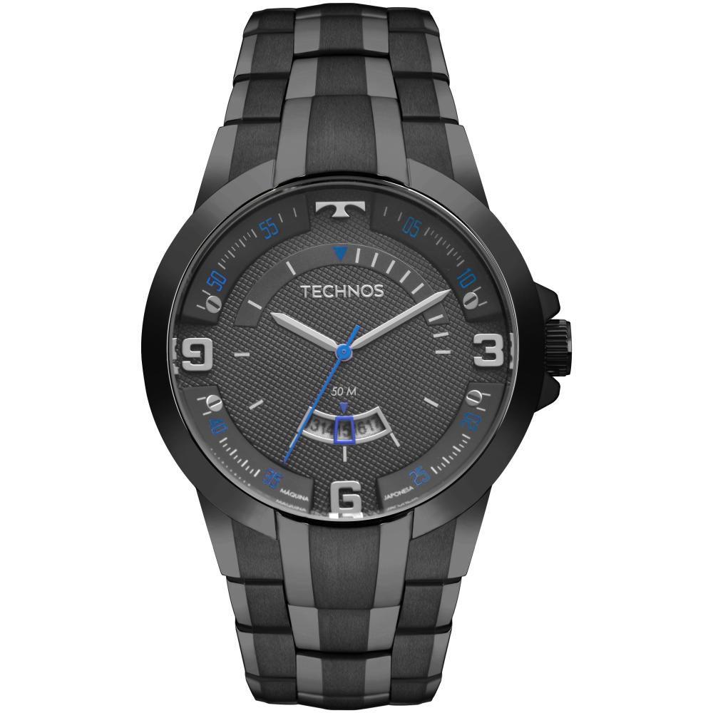 Relógio Masculino Technos Racer 2117LBD/4P 48mm Aço Preto