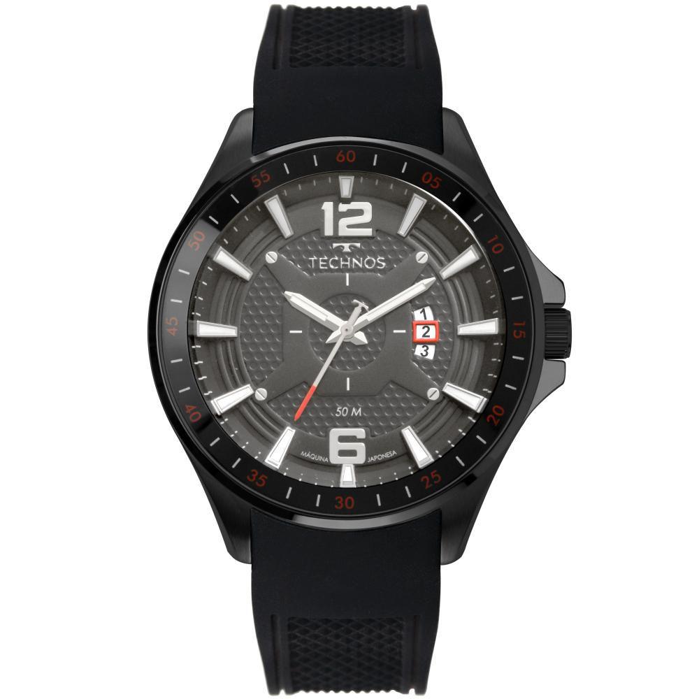 Relógio Masculino Technos Racer 2117LBX/8C 46mm Silicone Preto