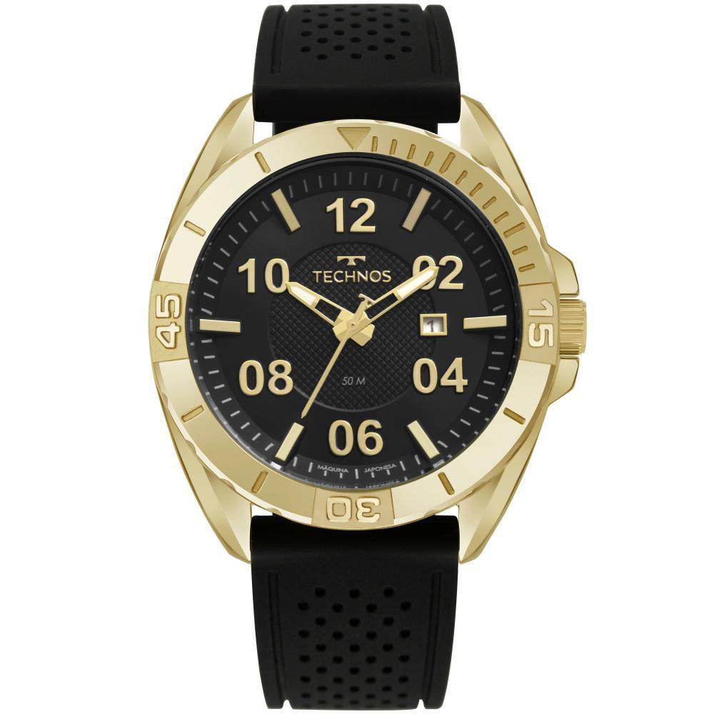 Relógio Masculino Technos Racer 2117LCA/8P 48mm Silicone Preto