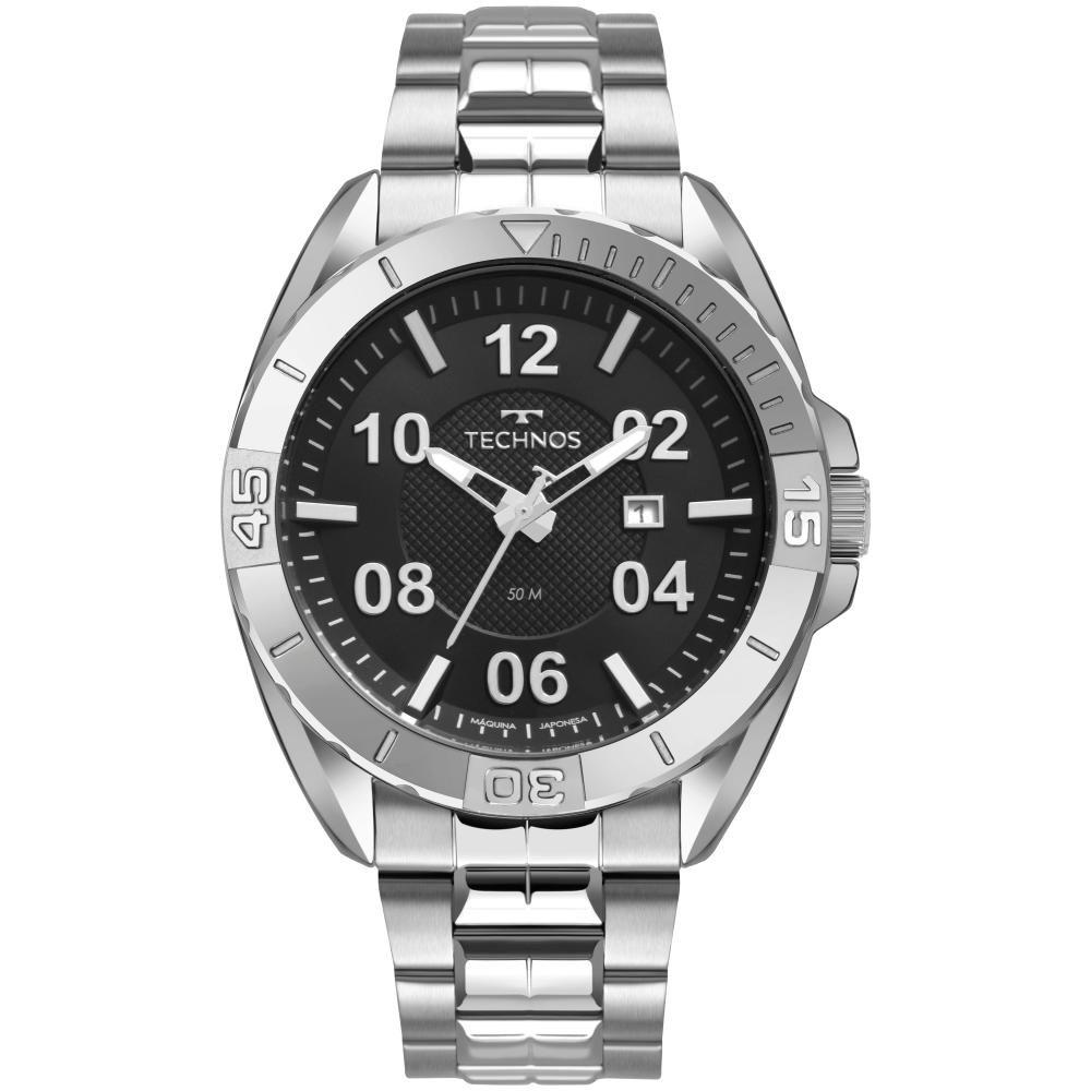 Relógio Masculino Technos Racer 2117LCB/1P 47mm Aço Prata