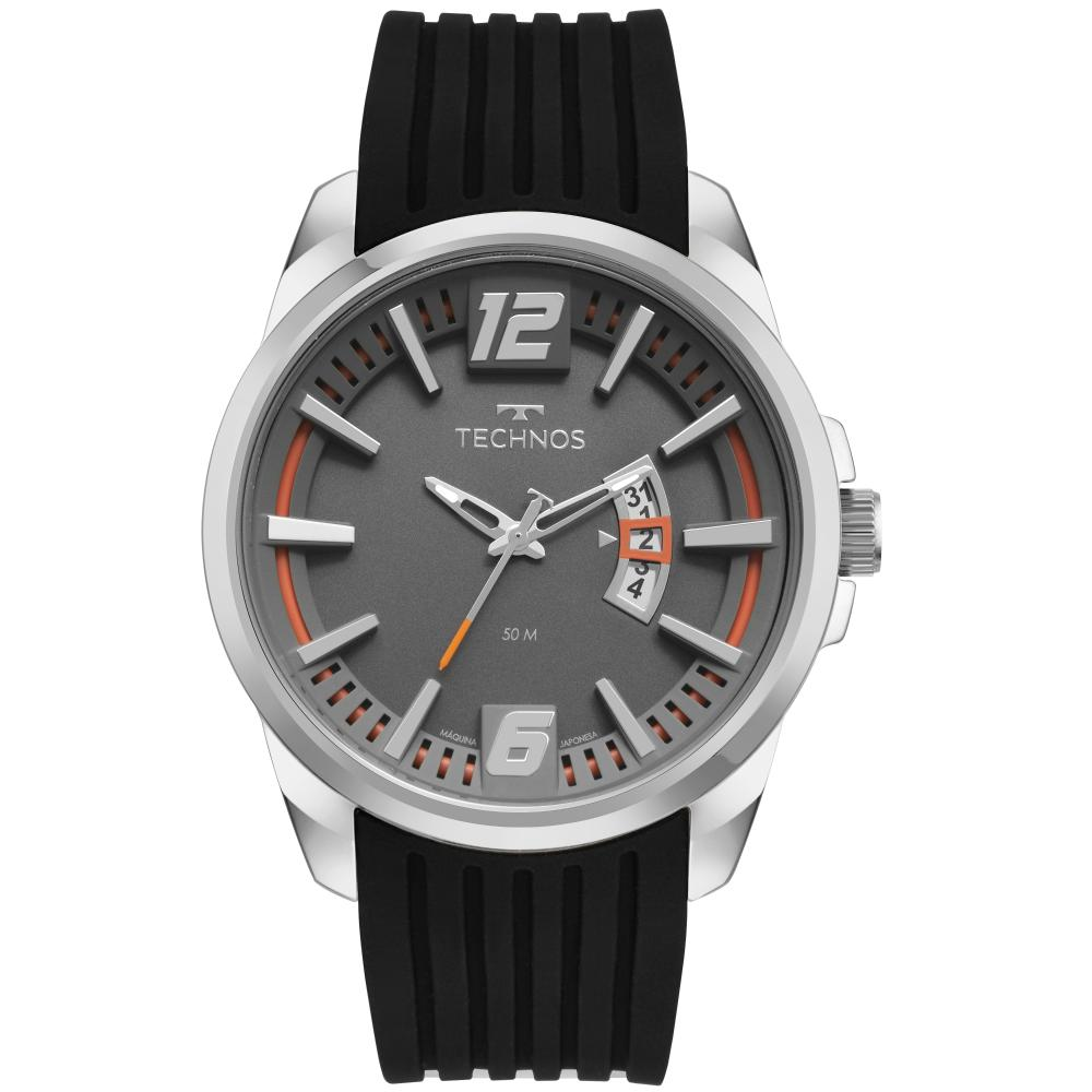 Relógio Masculino Technos Racer 2117LCT/2C 46mm Silicone Preto