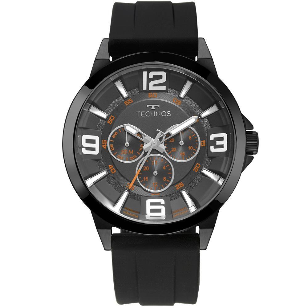 Relógio Masculino Technos Racer 6P79BN/8P 46mm Silicone Preto