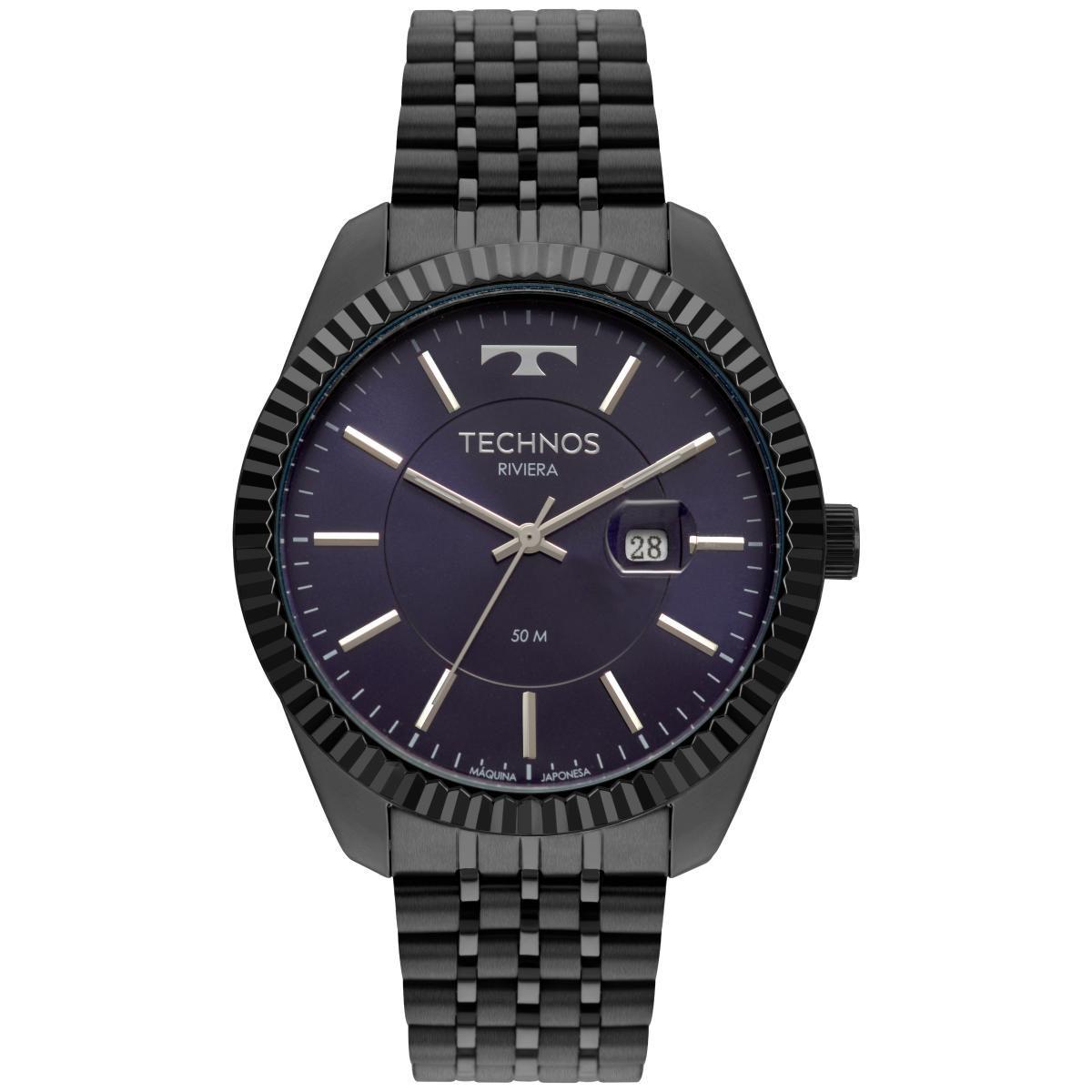 Relógio Masculino Technos Riviera 2115MSV/4A 46mm Aço Grafite