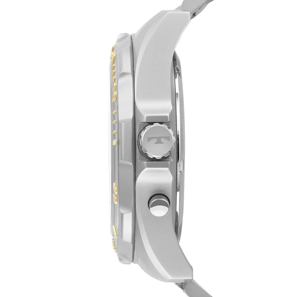 Relógio Masculino Technos Skydiver WT205FQ/5P 48mm Aço Prata