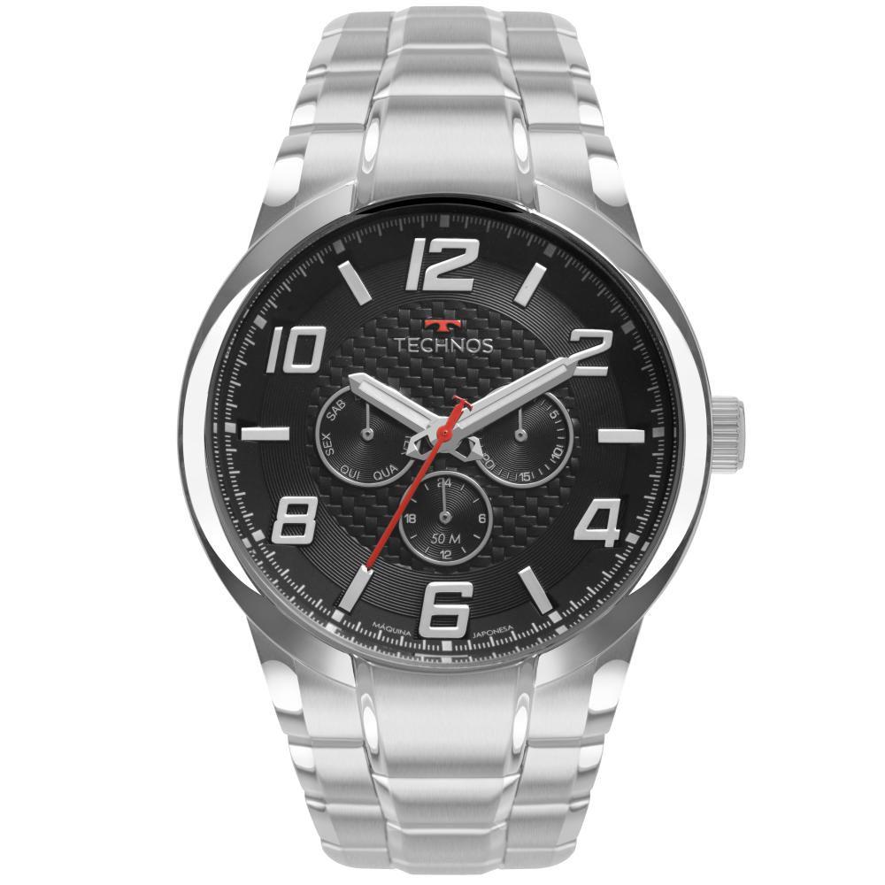 Relógio Masculino Technos Skymast 6P79BO/1P 48mm Aço Prata