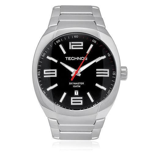 Relógio Masculino Technos Skymaster 2115GS/1P 44mm Aço Prata