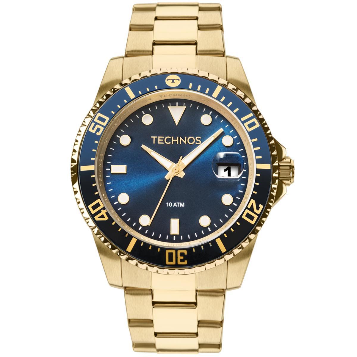 Relógio Masculino Technos Skymaster 2415CK/4A 47mm Aço Dourado