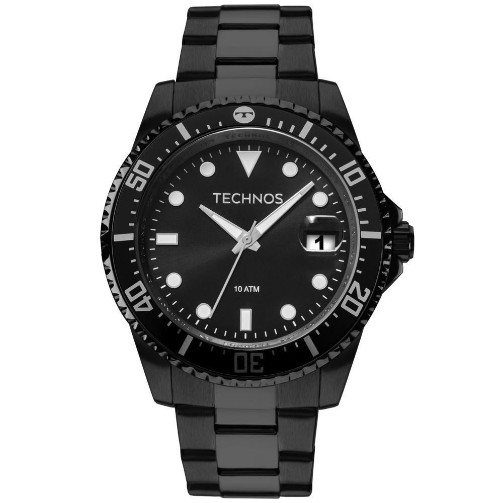 Relógio Masculino Technos Skymaster 2415CL/4P 47mm Aço Preto
