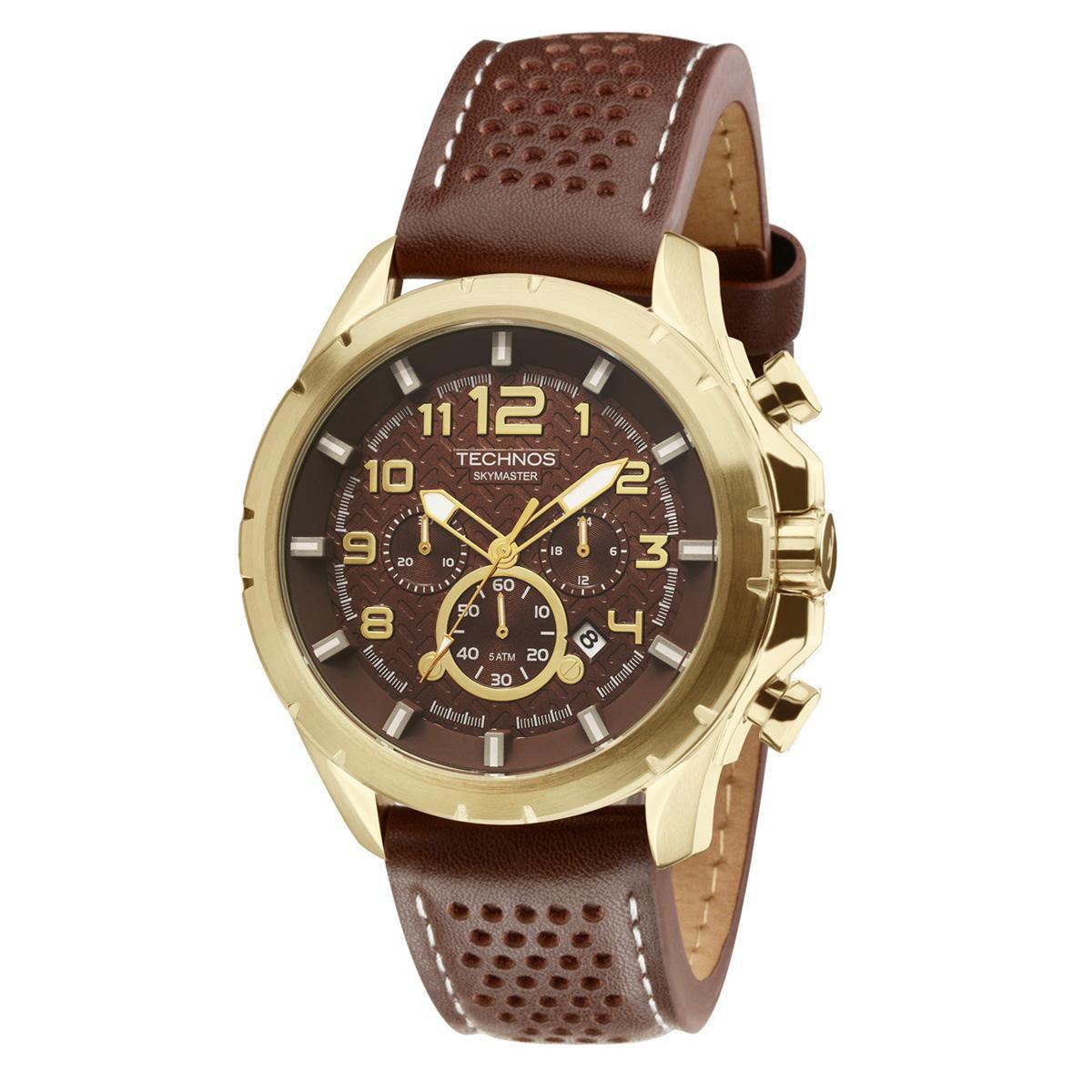 6085d628cc4 Relógio Masculino Technos Skymaster JS25BG 0M 48mm Couro Marrom