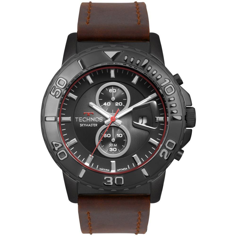 Relógio Masculino Technos Skymaster OS11EB/2P 47mm Couro Marrom