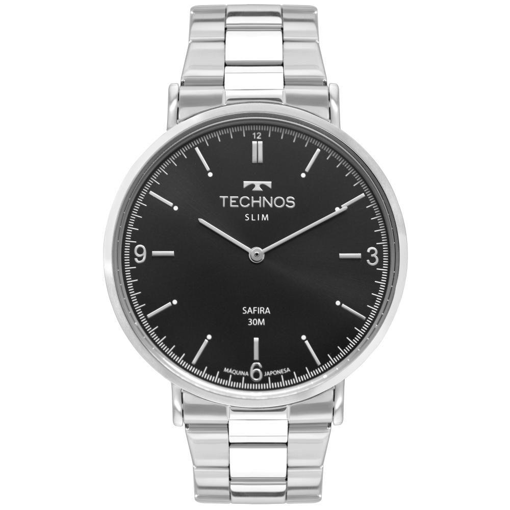 Relógio Masculino Technos Slim 2025LTN/1P 44mm Aço Prata