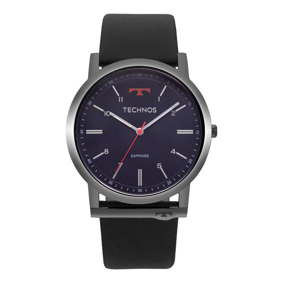 Relógio Masculino Technos Slim GL30FP/4A 44mm Couro Preto