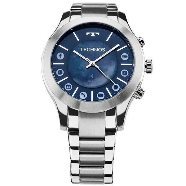 Relógio Masculino Technos SmartWatch 753AF/1A 42mm Aço Inox