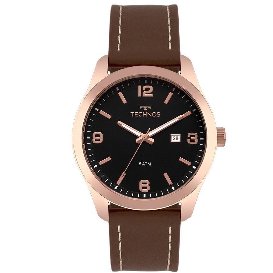 c1e25703d63 Relógio Masculino Technos Steel 2115MPJ 2P 44mm Couro Marrom