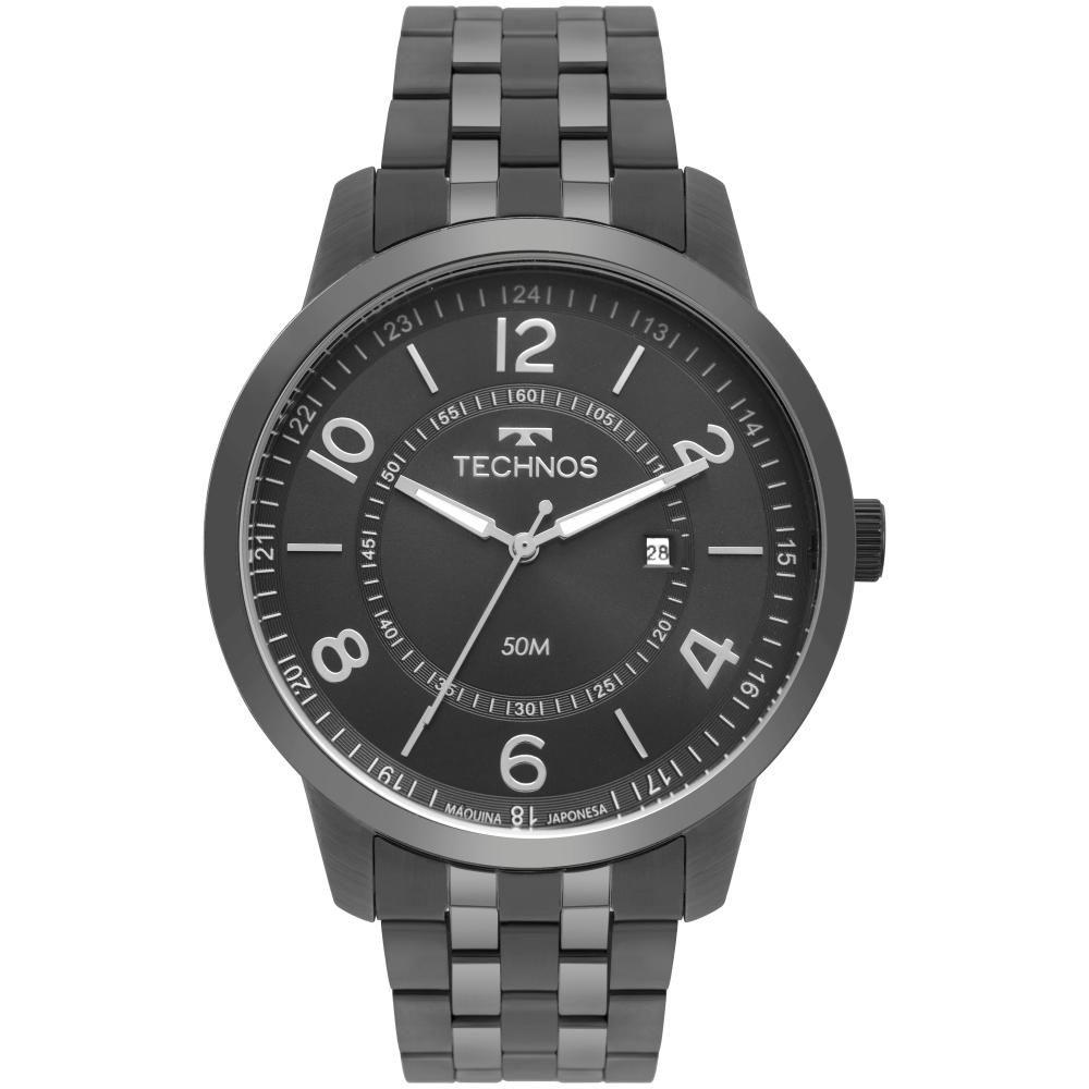 Relógio Masculino Technos Steel 2115MSS/4C 46mm Aço Grafite