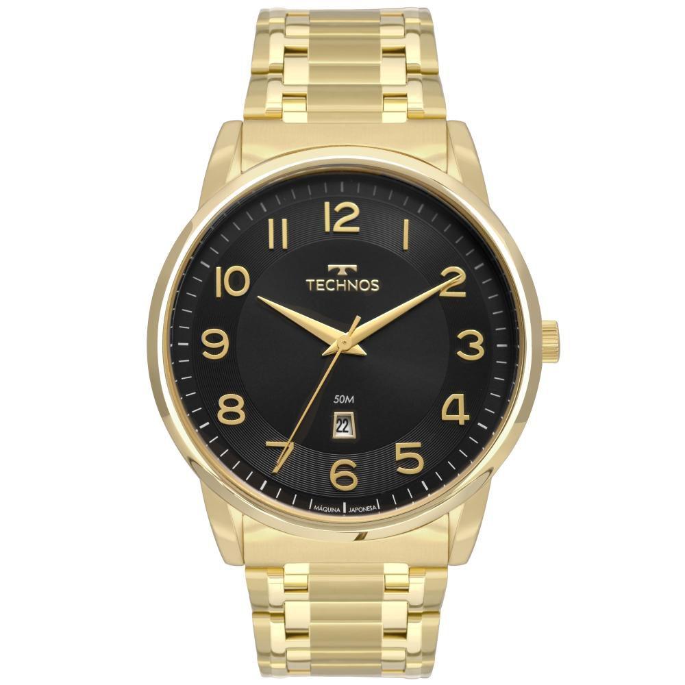 Relógio Masculino Technos Steel 2117LBH/4P 46mm Aço Dourado
