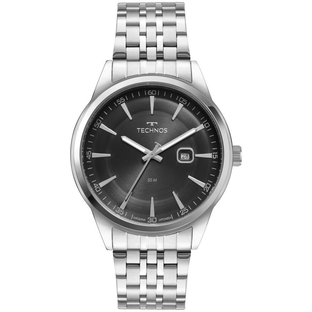 Relógio Masculino Technos Steel 2117LCV/1P 45mm Aço Prata