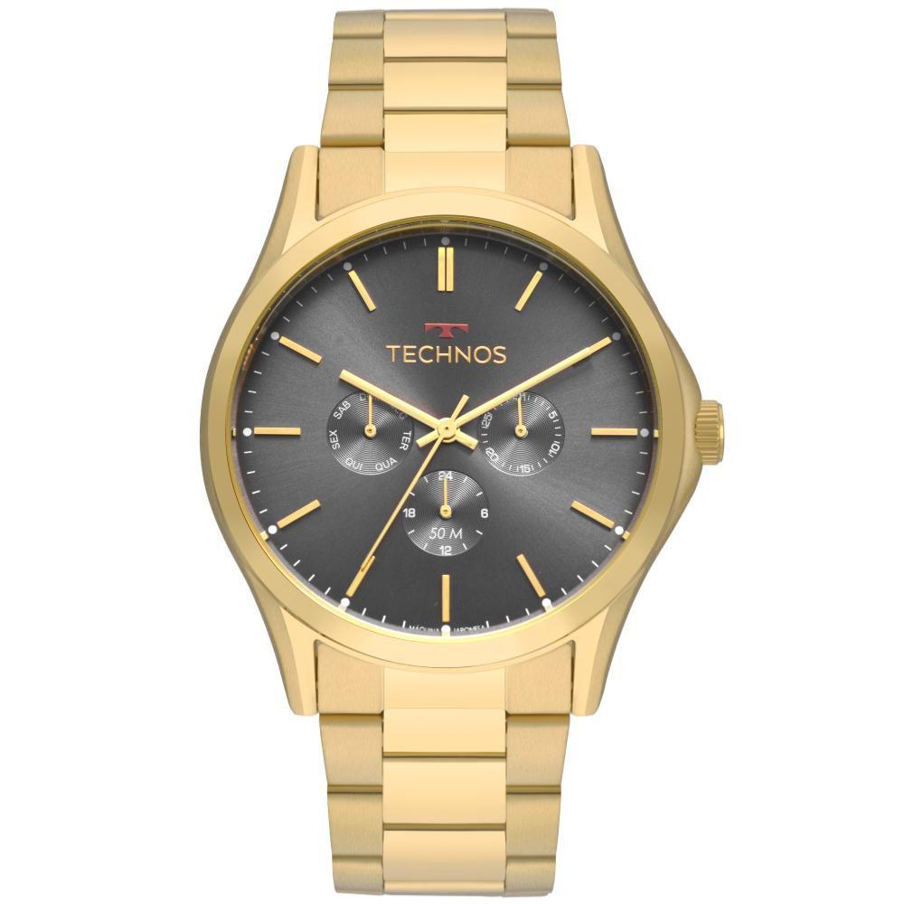 Relógio Masculino Technos Steel 6P29AKH/4D 46mm Aço Dourado