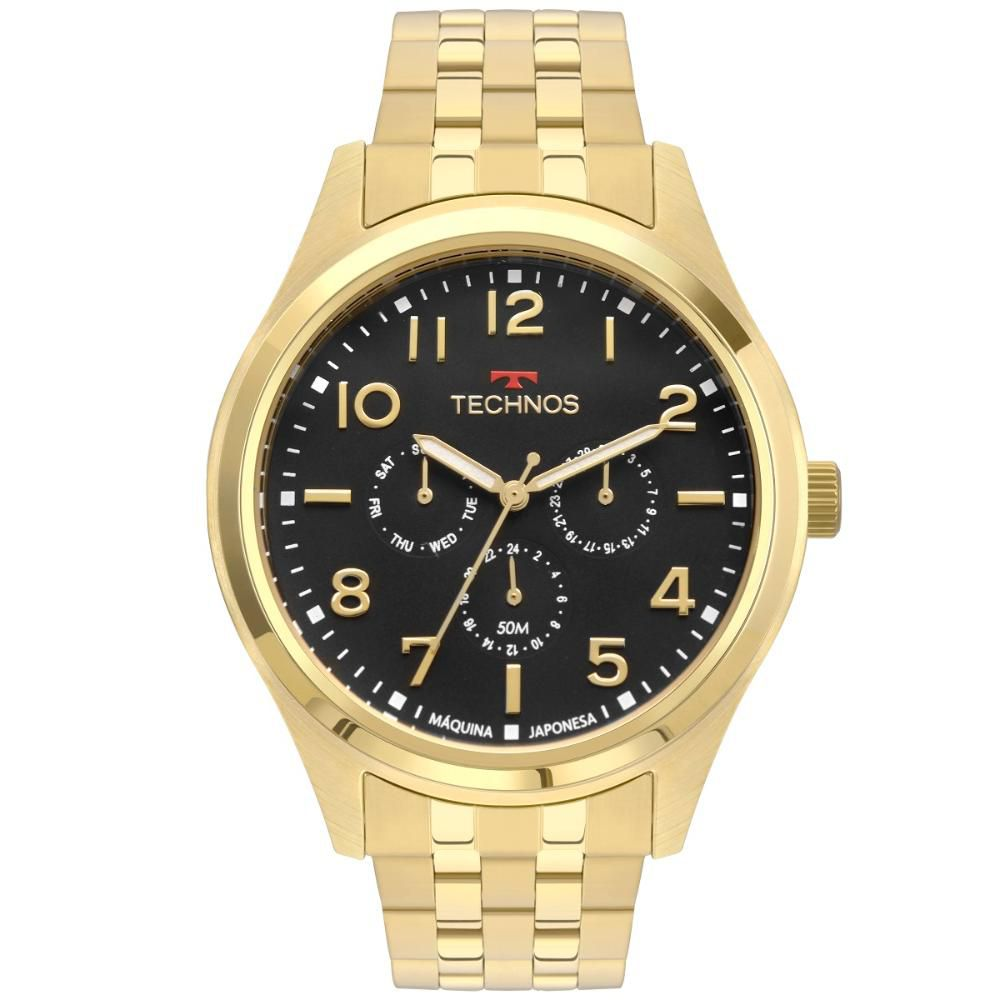 Relógio Masculino Technos Steel 6P29AKI/4P 46mm Aço Dourado