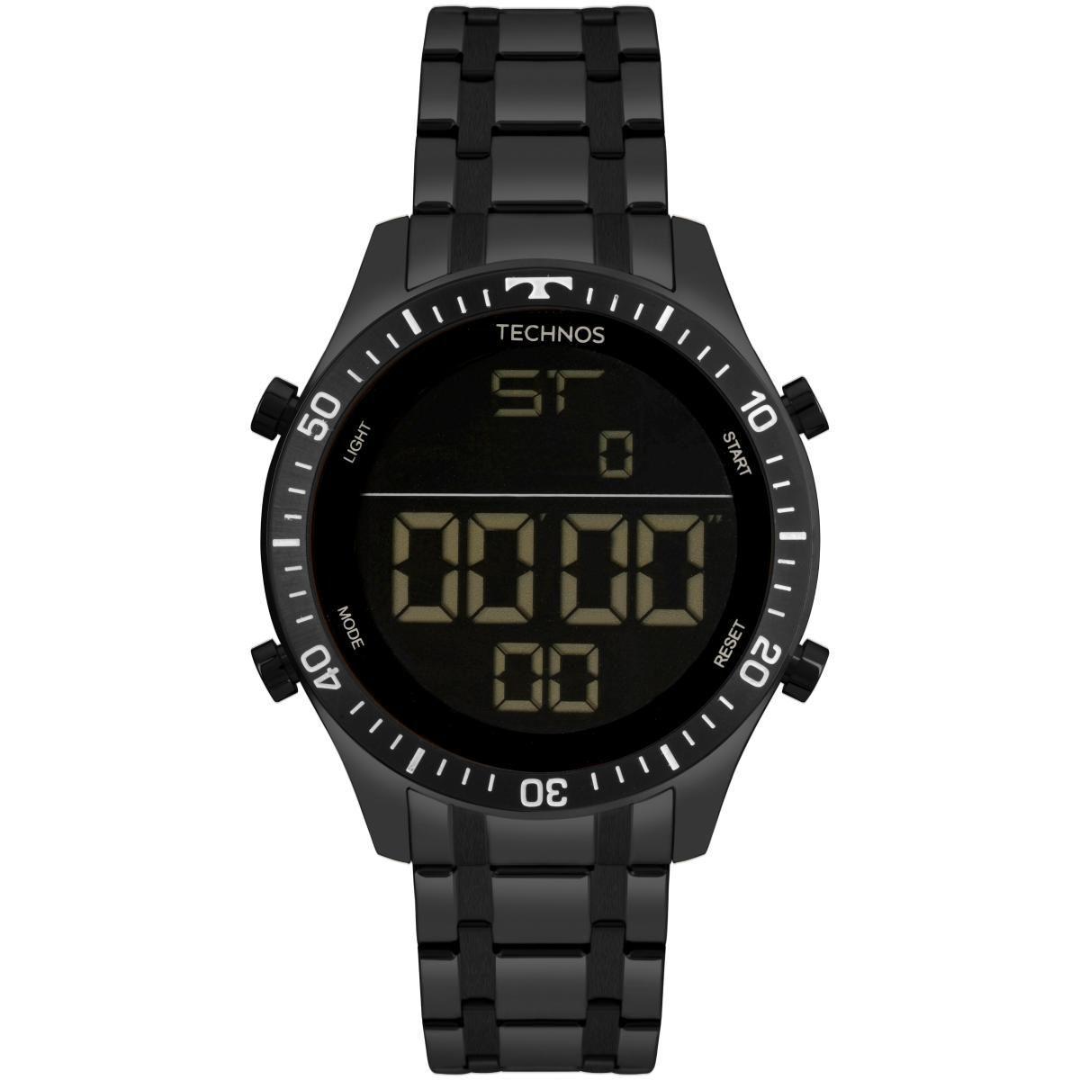 Relógio Masculino Technos T02139AB/4P 46mm Aço Preto