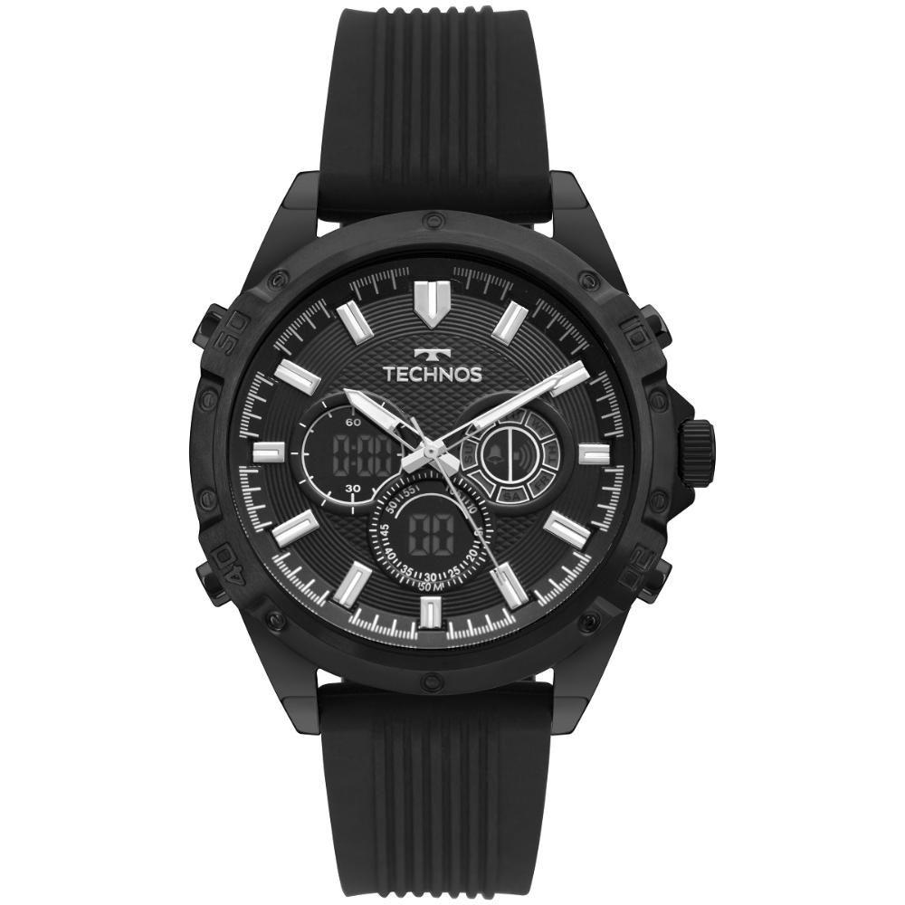 Relógio Masculino Technos TS Digiana BJ3814AC/8P 46mm Silicone Preto