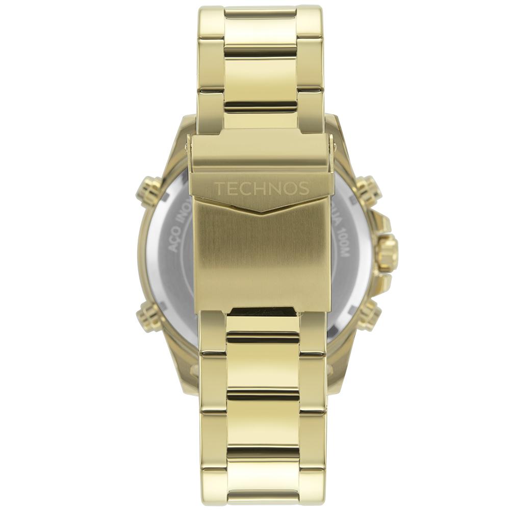 Relógio Masculino Technos W23721AAA/1P 48mm Aço Dourado
