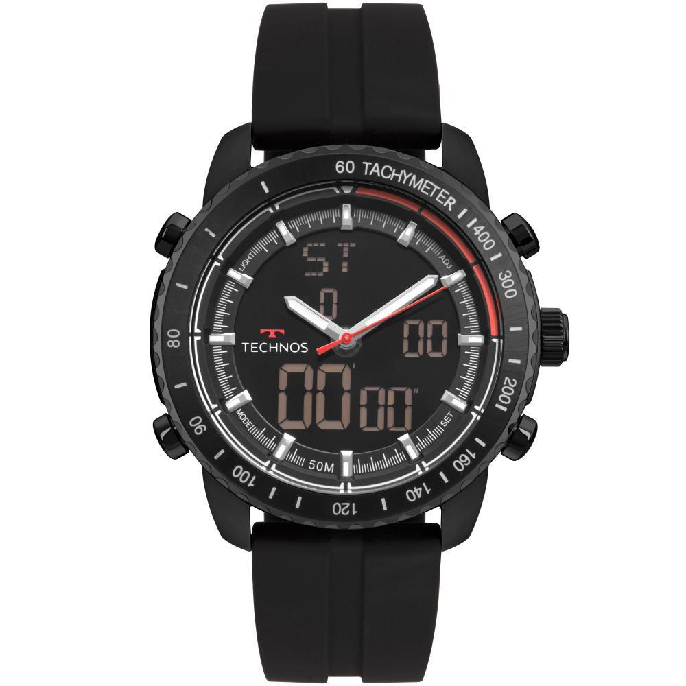 Relógio Masculino Technos W23745AB/8P 48mm Silicone Preto
