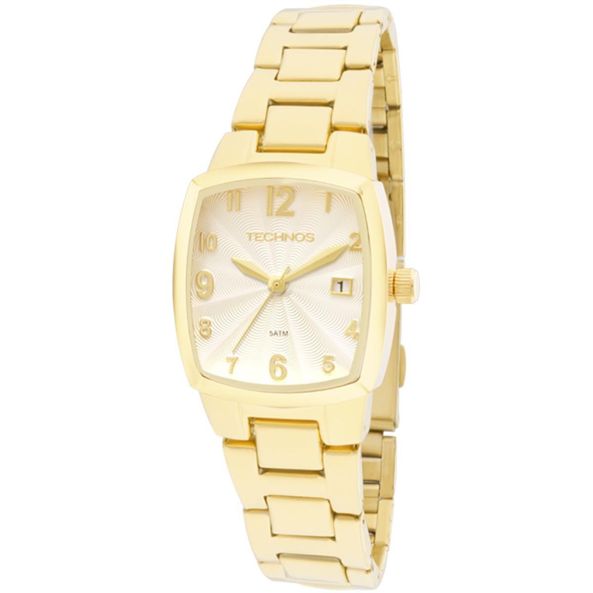 Relógio Technos Feminino 2015CAF/4K 25mm Aço Dourado