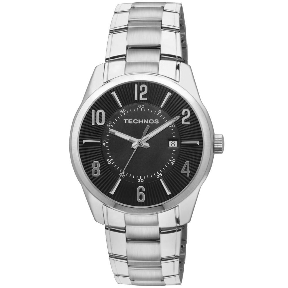 Relógio Technos Masculino 2115GY/1P Pulseira Aço Prata