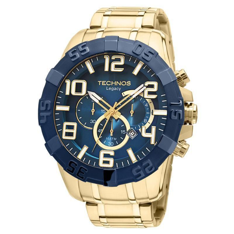 Relógio Technos Masculino OS20IQ/4A 53mm Dourado