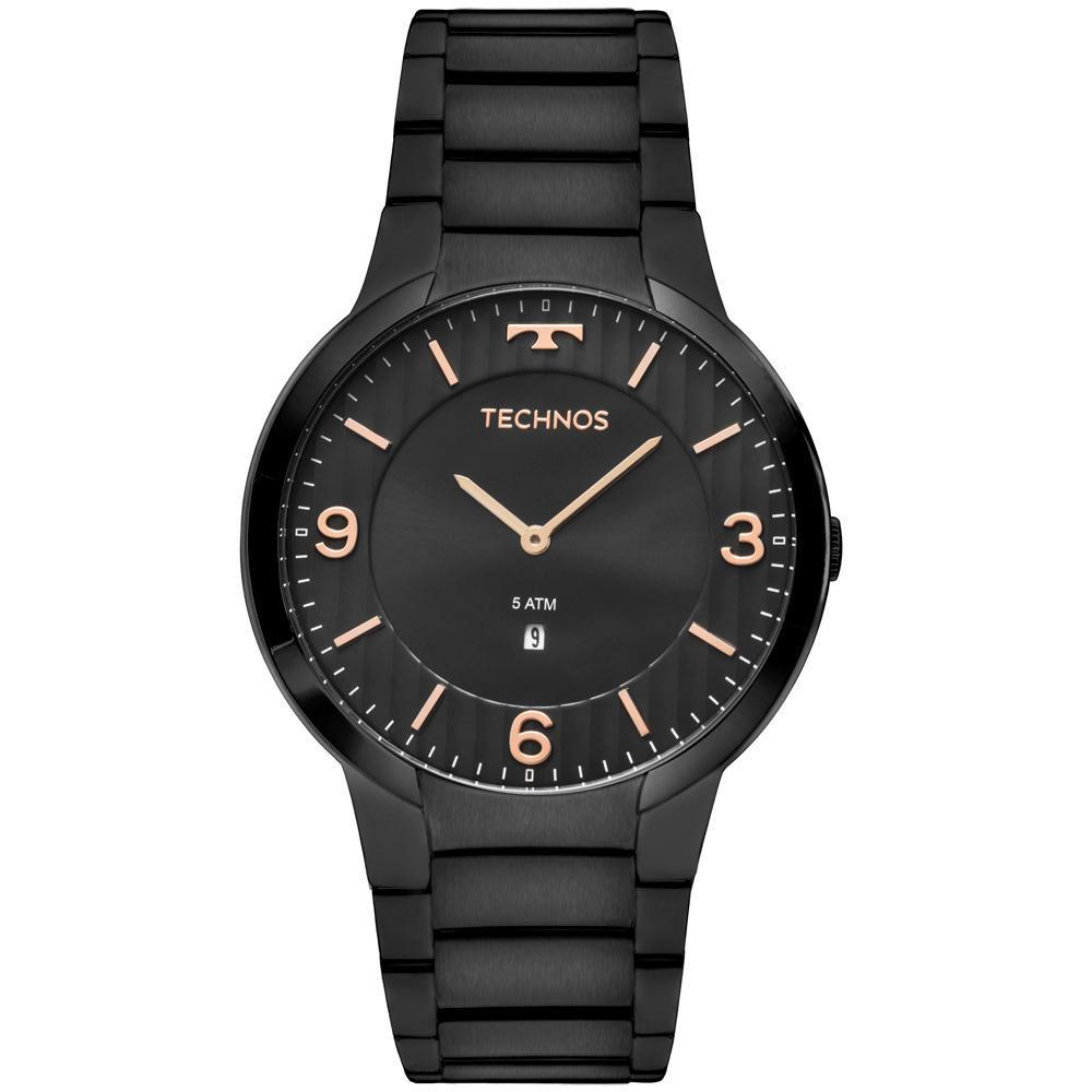 Relógio Technos Slim GL15AM/4P 42mm Aço Preto
