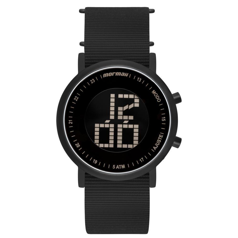 Relógio Unissex Mormaii Digital Vibe MOBJT003AB/2T 43mm Silicone Preto