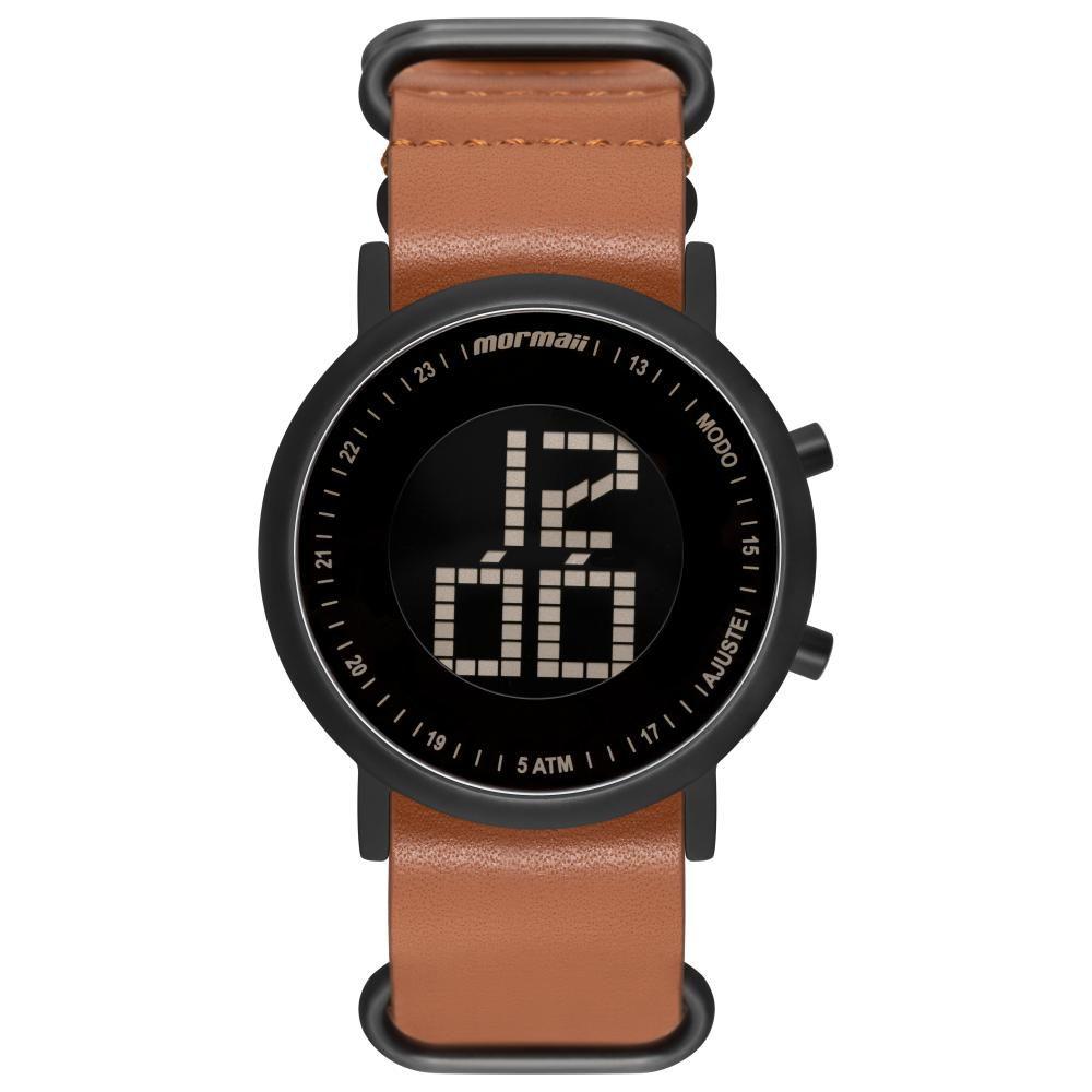 Relógio Unissex Mormaii Digital Vibe MOBJT003AC/2M 43mm Couro Marrom