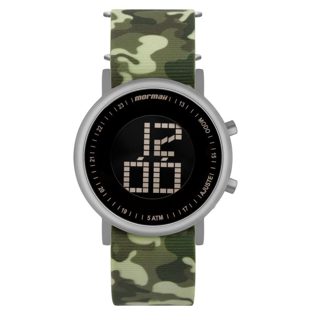 Relógio Unissex Mormaii Digital Vibe MOBJT003AD/2V 43mm Silicone Camuflado Militar