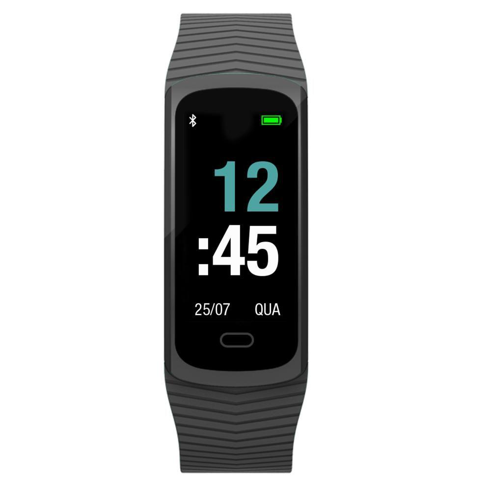 Relógio Unissex Mormaii Fit GPS MOB3AA/8P 20mm Borracha Preto