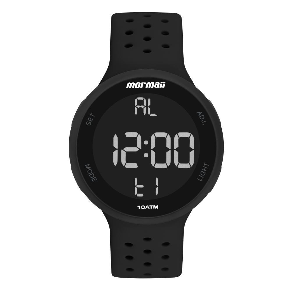 Relógio Unissex Mormaii MO7700AA/8P 43mm Silicone Preto