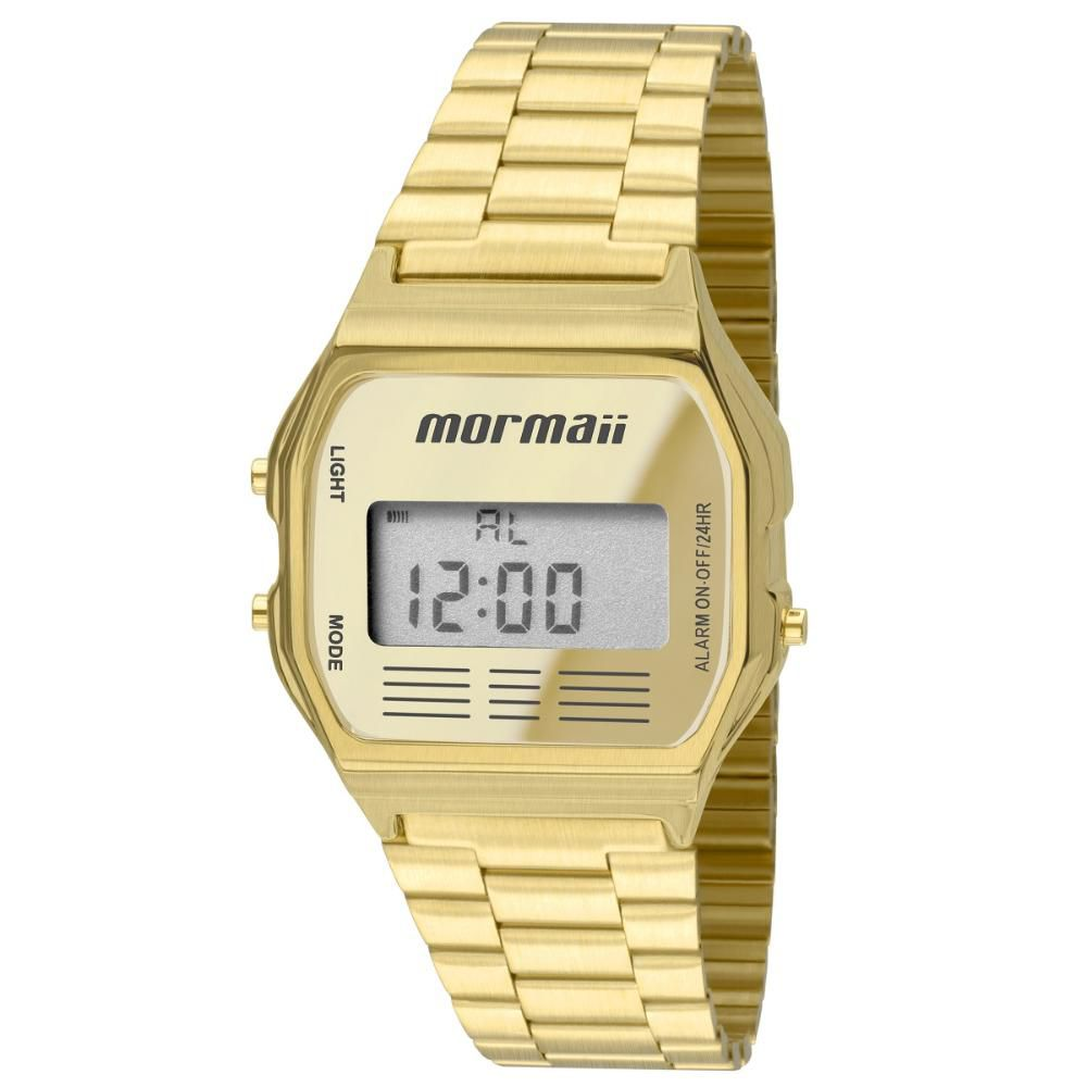 Relógio Unissex Mormaii Vintage MOJH02AB/4D 33mm Aço Dourado