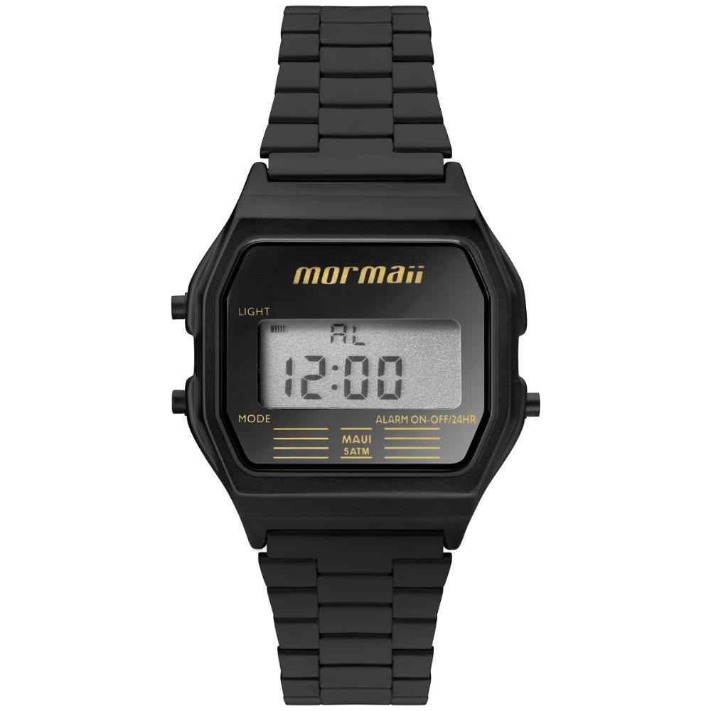 Relógio Unissex Mormaii Vintage MOJH02AJ/4P 33mm Aço Preto